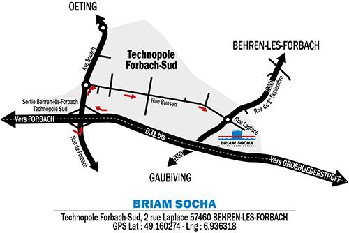 Plan d'accés BRIAM SOCHA